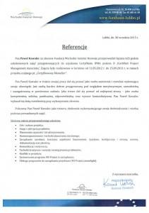 Certyfikacja Menedżer referencje
